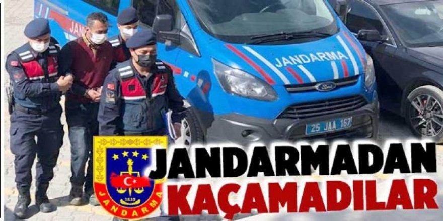 Erzurum 'da Kablo hırsızları jandarmadan kaçamadı