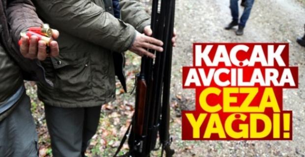 Erzurum'da Kaçak avlanan avcılara ceza yağdı