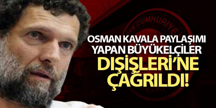 10 ülkenin Ankara'daki büyükelçileri Dışişleri'ne çağrıldı