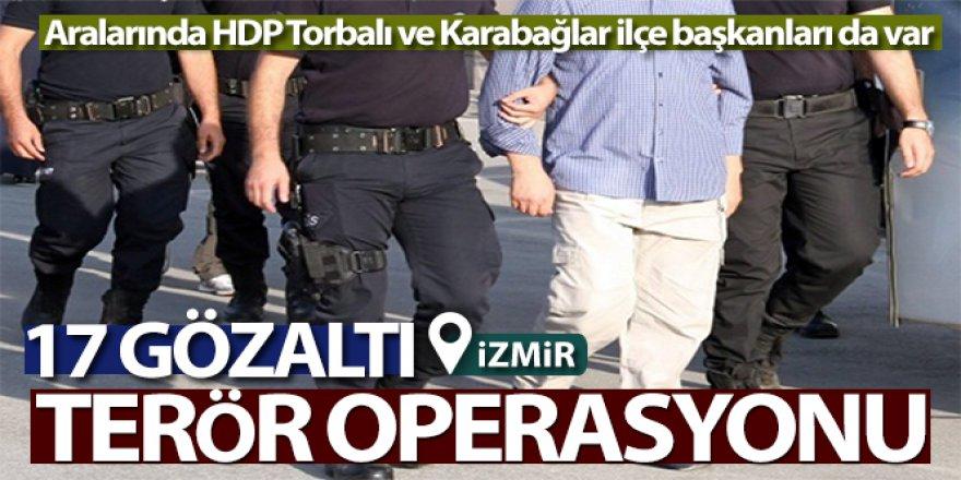 PKK/KCK terör örgütü operasyonu: 17 gözaltı