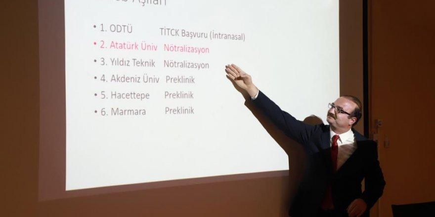 Atatürk Üniversitesinin Covid-19 Aşı çalışması