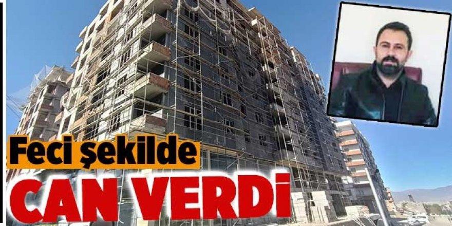 Erzurum'da Şantiye şefi 8'inci kattan düştü