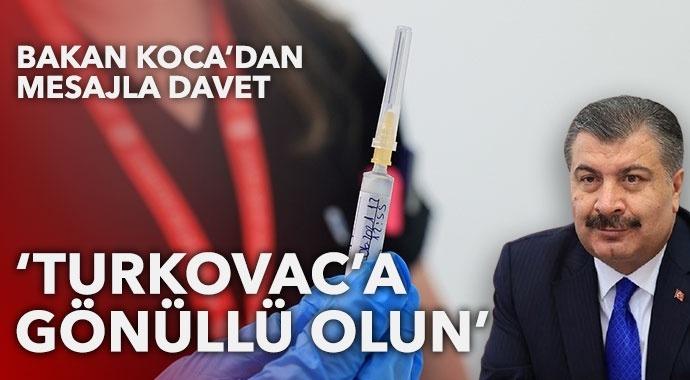 Bakan Koca'dan Turkovac'a mesajla davet
