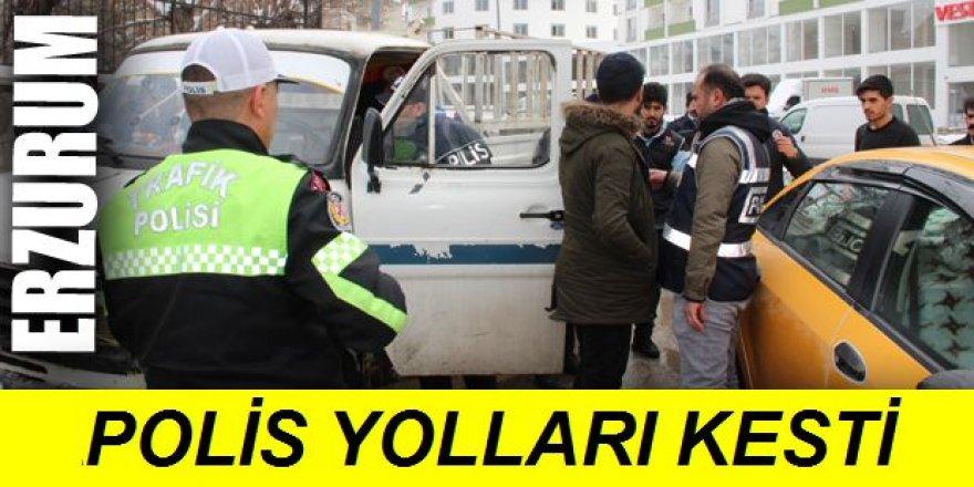 Erzurum'da Polisten huzur uygulaması