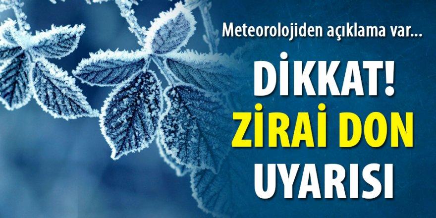 Erzurum ve bölge için Meteorolojiden zirai don uyarısı