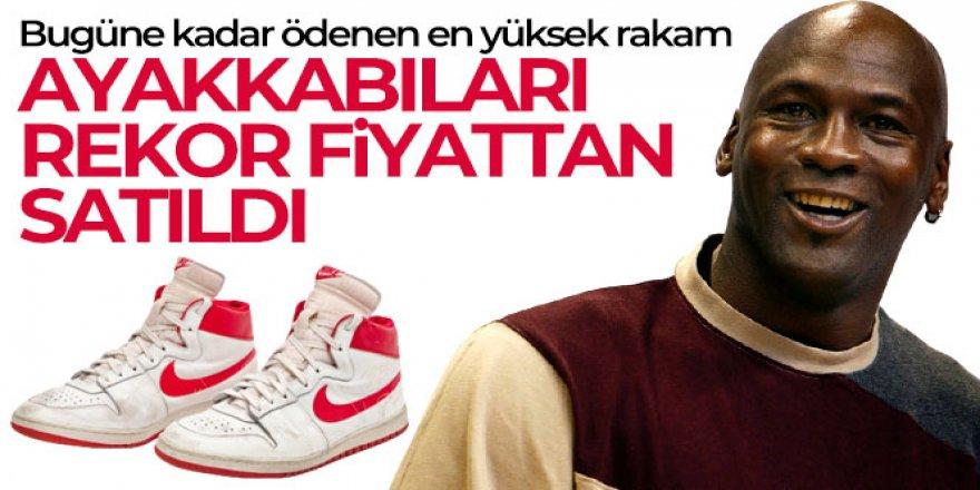 Michael Jordan'ın ayakkabıları 1.47 milyon dolara rekor fiyattan satıldı