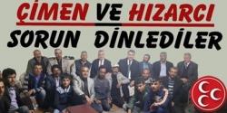 MHP'li Hızarcı ve Çimen sorun dinledi