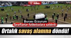 Erzurum'da maç sonrası olaylar çıktı!