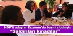 HDP'liler basınla buluştu