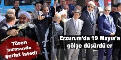 Erzurum'da protestolu 19 Mayıs töreni