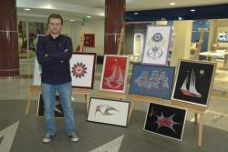 Erzurum'da ip sanatı sergisi