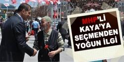 MHP'li Kaya'ya seçmenden yoğun ilgi