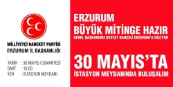 Bahçeli Erzurum'a geliyor!