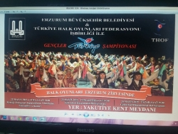 Halkoyunları Gençleri Erzurum'da yarışıyor