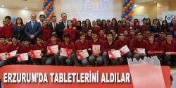 Erzurum'da öğrencilere tablet bilgisayar