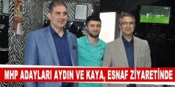 MHP'li adaylar esnaf ziyaretinde