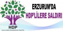 Erzurum'da HDP adayına saldırı