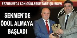 Sekmen'de ödüllü başkan oldu!