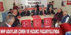 MHP'li Çimen ve Hızarcı Pazaryolu'nda