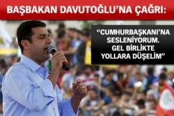 Demirtaş'tan Davutoğlu'na çağrı