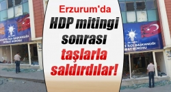 AK Parti irtibat bürosuna taşlı saldırı