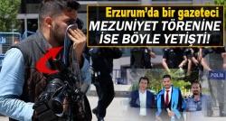 Mezuniyet törenine yetişen haberci Mehmet Yılmaz!
