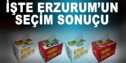 İşte Erzurum'da seçim sonucu!