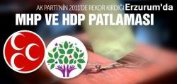 Erzurum'da MHP ve HDP patlaması