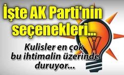İşte AK Parti'nin seçenekleri!