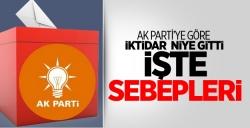 AK Parti'ye Göre Oy Kaybının Nedenleri!