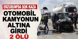 Erzurum'da şok kaza