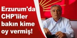 Erzurum'da CHP'liler bakın kime oy vermiş!