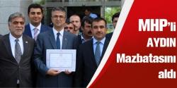 MHP'li Aydın mazbatasını aldı