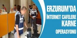 Erzurum polisinden karne operasyonu!
