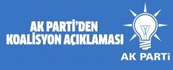 AK Parti'den koalisyon açıklaması!