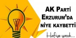 Ak Parti Erzurum'da niye kaybetti!