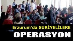 Erzurum'da Suriyeli operasyonu!