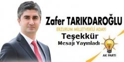 Tarıkdaroğlu Teşekkür etti!