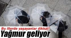 Bugün yine yağış var!