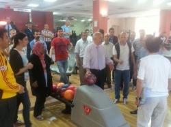 Aziziye Kaymakamlığından bowling turnuvası