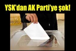 YSK'dan AK Partiye iki red!