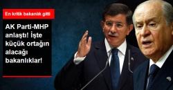 MHP Koalisyonunda 8 Bakanlık MHP'ye