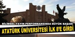Atatürk Üniversitesi ilk 8 'e girdi