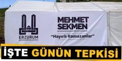 Erzurum'da tepkisiz kalmayanlarda var!