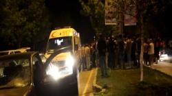 Erzurum'da kazalı gece!