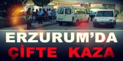 Erzurum'da trafik kazası:1 ölü 1 yaralı