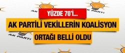 AK Partili vekillerin koalisyon ortağı belli