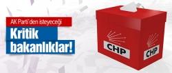 CHP'nin AK Parti'den istediği kritik bakanlıklar!