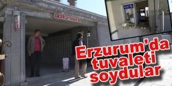 Erzurum'da tuvaleti soydular