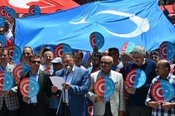 Erzurum'da Doğu Türkistan eylemi